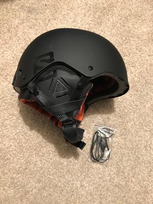 Ski helmet with built in headphones