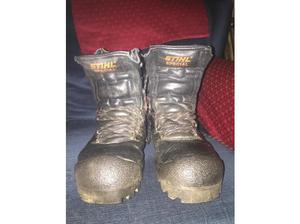 Stihl special chainsaw boots UK size 8 in Leeds