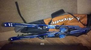atomic c:9 18 skis with Scott micro pols and atomic bag, want gone asap £50