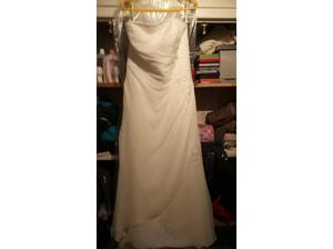 wedding dress and full length veil in Harwich
