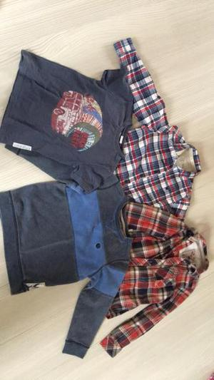 Selection of fat face boys shirts and jumper