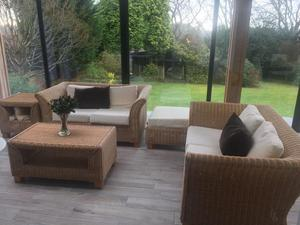 Wicker Sofa's, Coffee Tables, Side Tables & Foot Stool