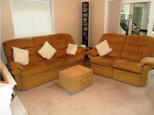 3 Seater & 2 Seater Sofa's plus Footstool in Waterlooville