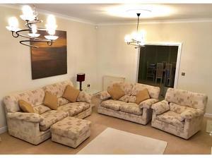 3 piece suite + footstool in Northampton