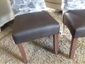 Brand New Pair Of Brown Leather Dining Chairs Worth £199 in