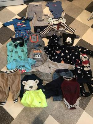 Bundle of baby boys clothes 3-6 and 6-9 Months
