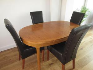 Extending Dining Table and 4 chairs - G Plan Teak