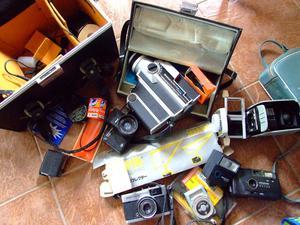 Job Lot of Vintage Retro Camera bits & Bobs Cine Camera Slide Projector and other stuff
