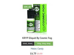 KRYP Eliquid By Cosmic Fog in Watford