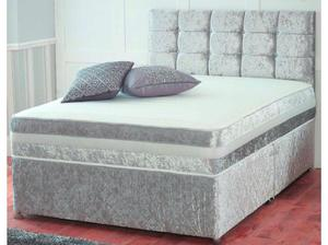 NEW Crushed velvet divan bed set in Tipton