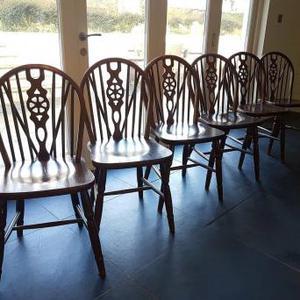 Set of 6 Wheelback Chairs