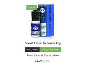 Sonset Eliquid By Cosmic Fog in Watford
