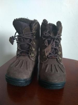 Timberland boys brown leather waterproof boots size uk 9