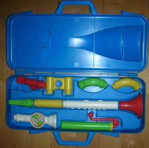 Vintage Fisher Price  Crazy Combo Horn Set - Complete