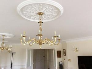 8 Bulb Chrome And Crystal Chandelier Posot Class
