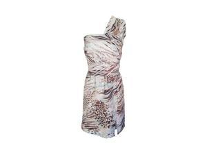 Baby blue & brown animal print wrap dress. in Nottingham