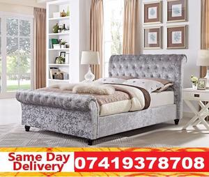 Brand New Double Sleighn Bed Available With Mattress zamek