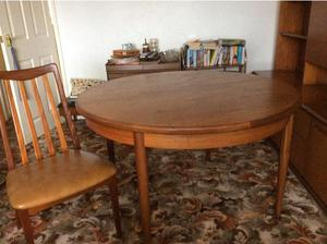 G Plan Vintage Dining Table and Chairs, Sideboard and