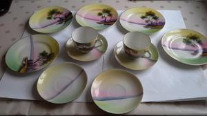 Japanese tea cups and plates