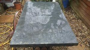 Large Very Old Natural Slate Flagstone/Slab from an Orangery