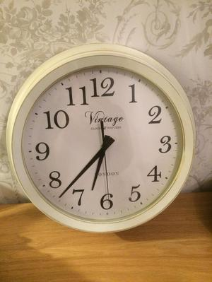 Cream vintage style clock