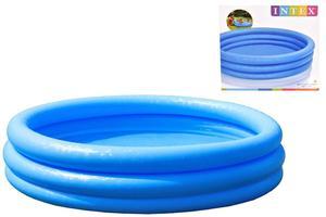 Intex 3 Ring Crystal Blue Paddling Pool Kids Swimming Pool