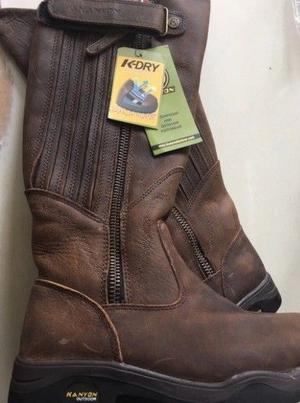 Ladies Brown Barbour Size 14 & Kanyon Gorse X Rider Brown Boots Size 5