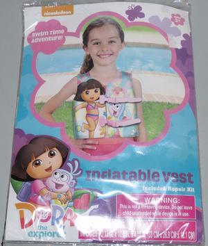 Nickelodeon Dora The Explorer Inflatable Vest Swimming Swim