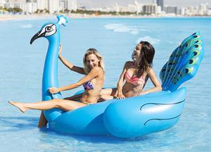 """ Pool Float Inflatable Blue Giant Peacock Pool Raft"
