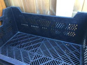 Stackable-Black-Plastic-Crates-Heavy Duty