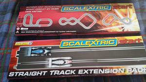 Two Scalextric Straight Extension Track