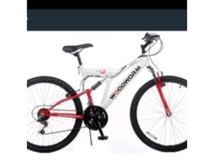 Brand new in a box red and white mountain bike in Woking