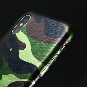 Green Camouflage Iphone X mask, case NEW - Free Shipping
