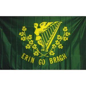 Ireland Erin Go Bragh weatherproof Flag 3x5' Irish + 6'