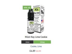 NS20 Key Lime Cookie E-Liquid by Element in Watford