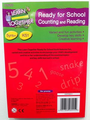 Ready for School Counting and Reading Activity Book