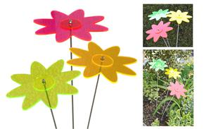 Set of 3 Sun Catcher/Suncat cher 1-farb. Flowers Ø12cm,
