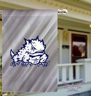 "TCU flag 29""x43"" TEXAS CHRISTIAN UNIVERSITY flag HORNED FROG"