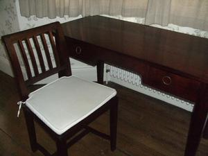 TEAK OFFICE DESK CHAIR BY LOMBOK/ OAK COFFEE TABLE