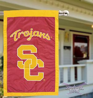 USC Trojans house flag 28in X 44in applique University of