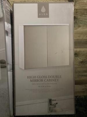 Brand New High Gloss Double Mirror Cabinet