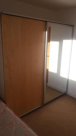 Sliding door mirrored wardrobe