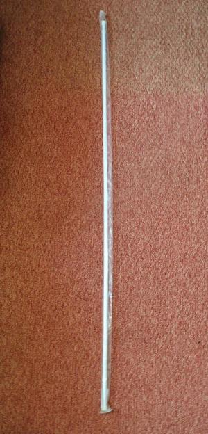White 12mm Twist and Fit Tension Rod / Pole For Net Curtains