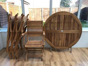 Wooden Patio Furniture - Table and Chairs