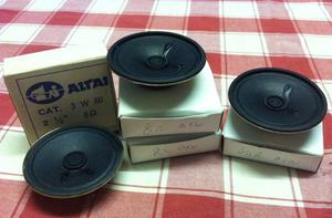 4 x Miniature Speakers (2.5 inch diameter) NEW and Boxed.