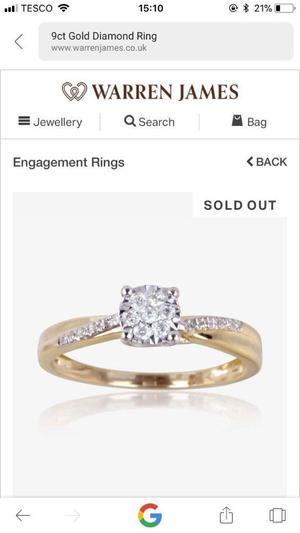 9CT Gold Diamond Engagement Ring