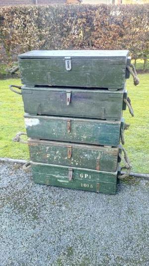 Ammunition Boxes Wooden