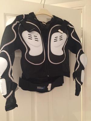 BMX helmet and body armour