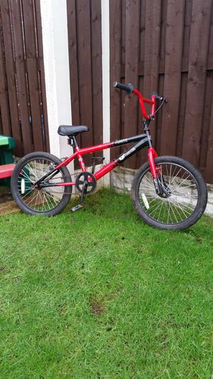 "Boys 20"" bmx bike in red & black can deliver"