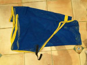 """Cooler/sweat rug royal blue with yellow binding 6'6"""""""